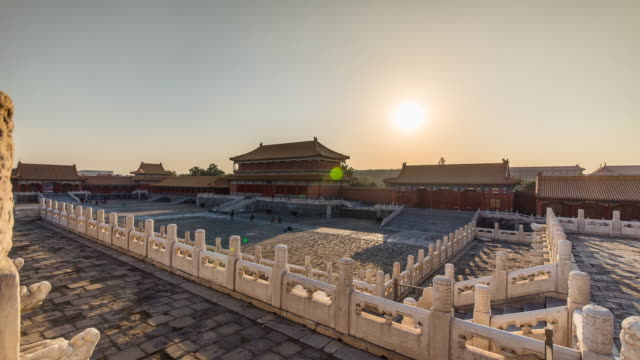 TIME LAPSE: Sun Goes Down In The Forbidden City