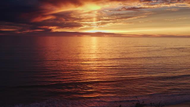 Sun Hitting the Ocean at Dusk