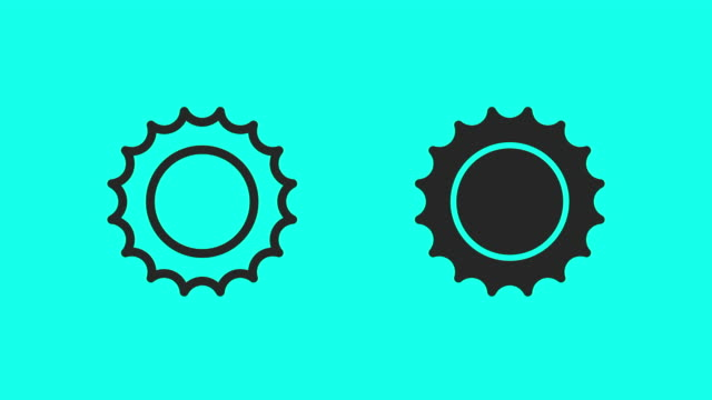sun icons - vector animate - climate icon stock videos & royalty-free footage