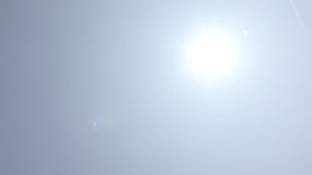 sun in blue sky - summer heat stock videos & royalty-free footage