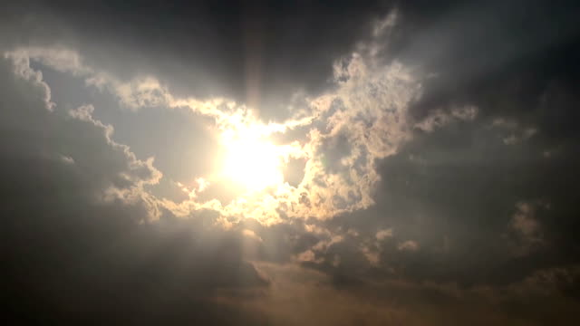 sun in dramatic sky - atmospheric mood stock videos & royalty-free footage
