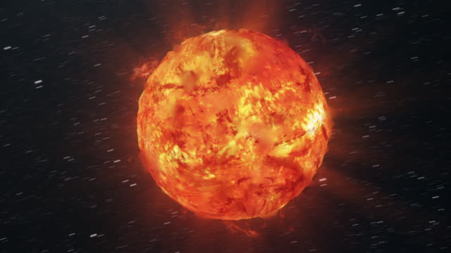 vídeos de stock e filmes b-roll de sun in outer space - filme documentário