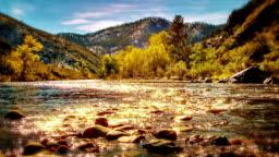 Sun light in river