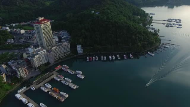 06/25/2016 sun moon lake - taiwan : a boat ride in sun moon lake in the morning - sun moon lake stock videos and b-roll footage