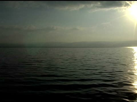 sun on the water of galilee - historical palestine stock videos & royalty-free footage