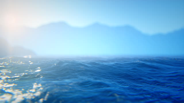 Sun over defocused sea