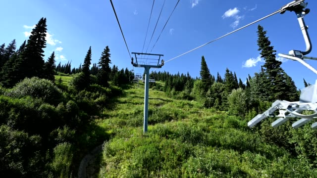 sun peaks ski resort in summer - ski lift stock videos & royalty-free footage