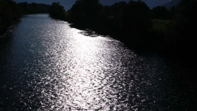 sun reflecting in a river - ticino canton stock videos and b-roll footage