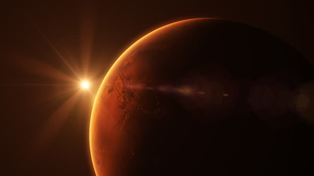 sun rise above mars - atmospheric mood stock videos & royalty-free footage