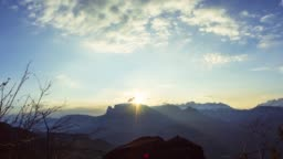 Sun rise time-lapse in the dolomites