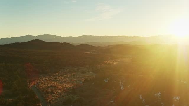 サンライジング オン ホワイト リバー バレー (ネバダ州) - ネバダ州点の映像素材/bロール