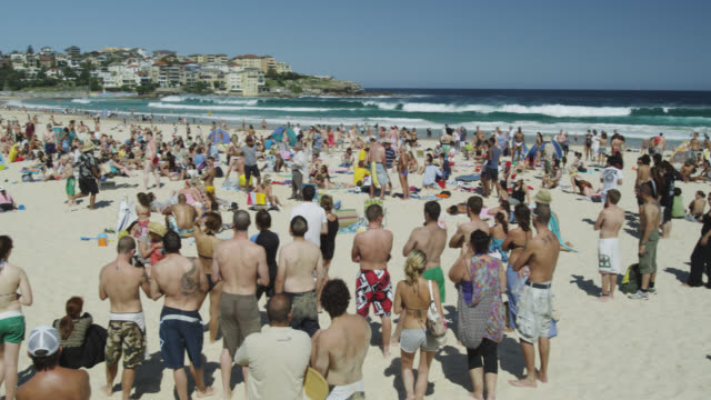 Sun Seekers at Bondi Beach, Sydney, New South Wales, Australia