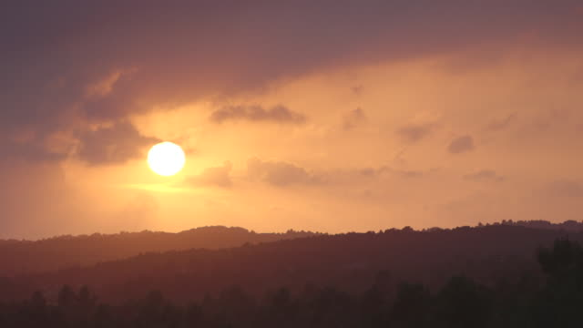 sun setting in rural france - bbc natural history stock videos & royalty-free footage