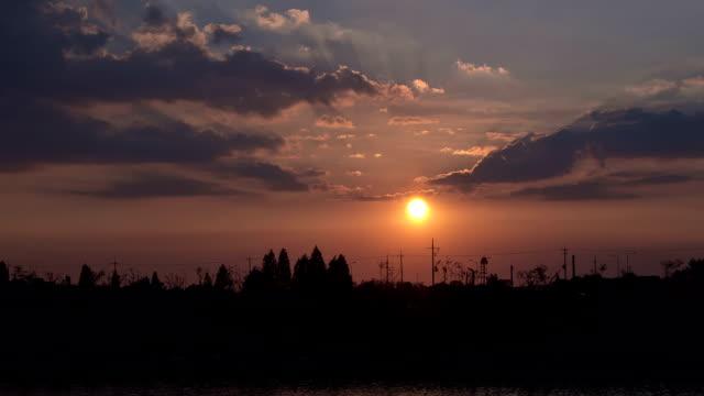 Sun setting over Gyeongin Ara Waterway