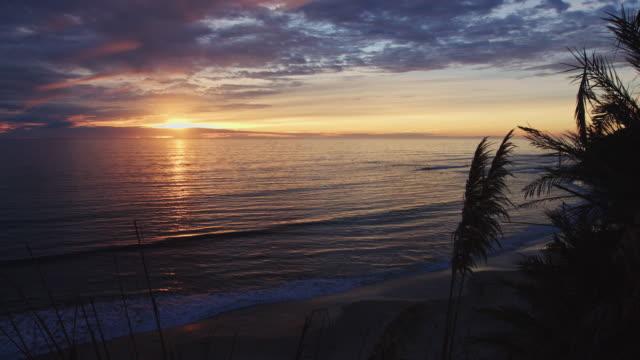 Sun Setting Over Pacific Ocean