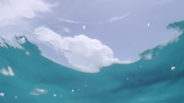 sun shimmers through surface of blue sea, bahamas - bimini stock videos & royalty-free footage