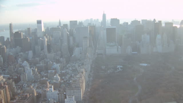 sun shines down on manhattan on an autumn day. - 2001 stock videos & royalty-free footage