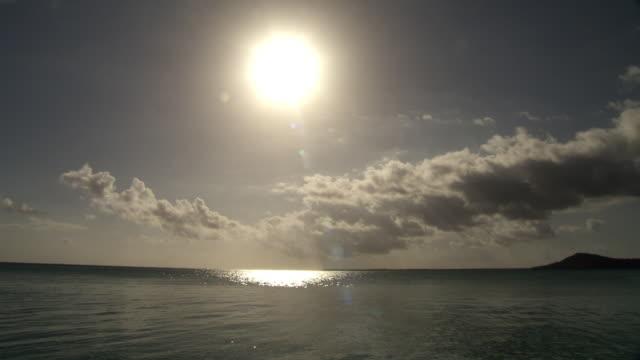 sun shines over tropical sea, rangiroa, french polynesia - french polynesia stock videos & royalty-free footage