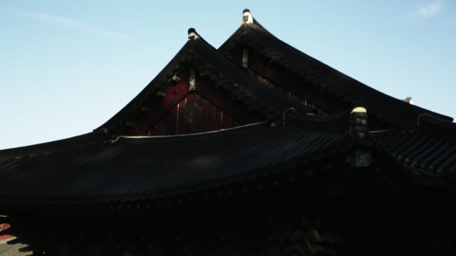 sun shining on songgwangsa temple / suncheon-si, jeollanam-do, south korea - moulding trim stock videos & royalty-free footage