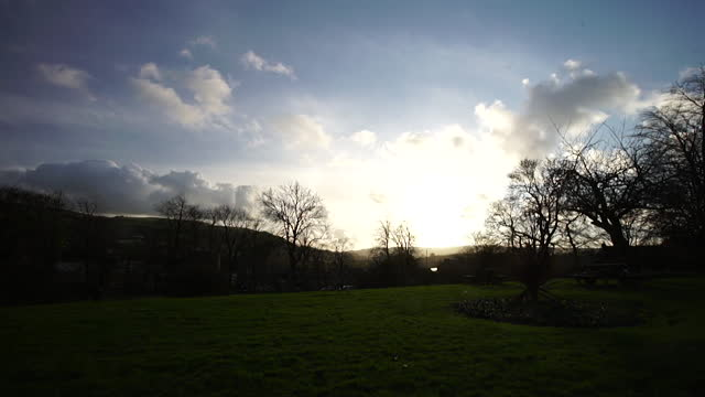 sun shining over uk countryside - non urban scene stock videos & royalty-free footage