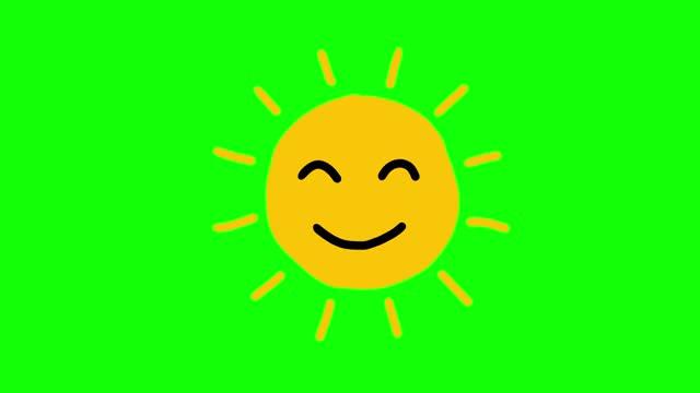 vidéos et rushes de animation souriante de soleil - forme géométrique