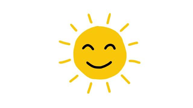 sun smiley animation - illustration stock videos & royalty-free footage