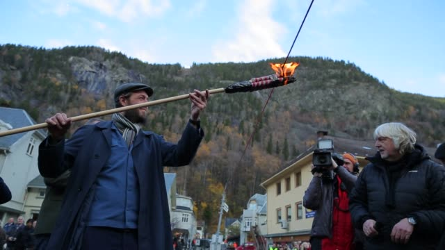 sun starved residents of a remote norwegian village unveiled an ingenious mirror system on wednesday in rjukan norway to bring natural light to their... - telemark stock videos and b-roll footage