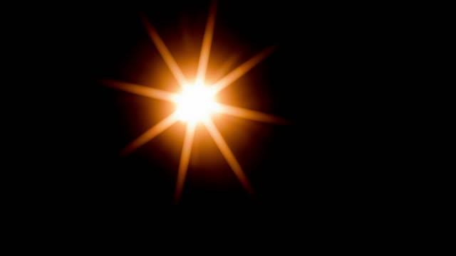vidéos et rushes de sunbeam starlight paillettes se déplaçant vers le bas 4k dci - forme étoilée