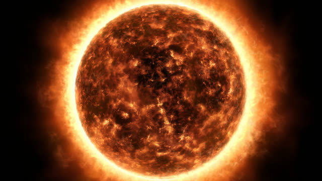 sun surface and solar flares animation - solar flare stock videos & royalty-free footage