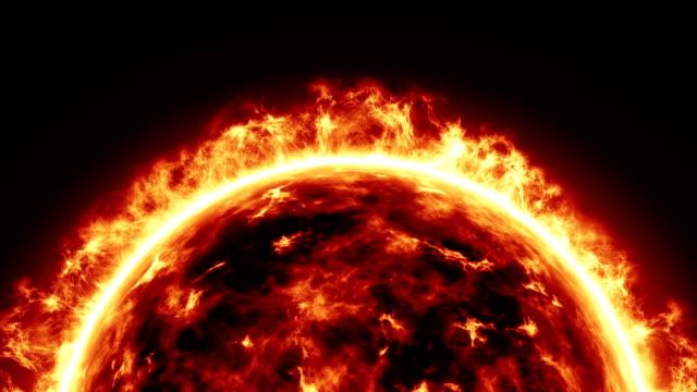 Sun surface and solar exacerbaciones.