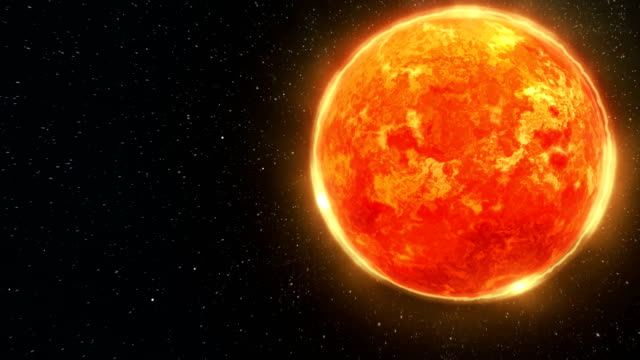 Sun Surface and Solar System Animation