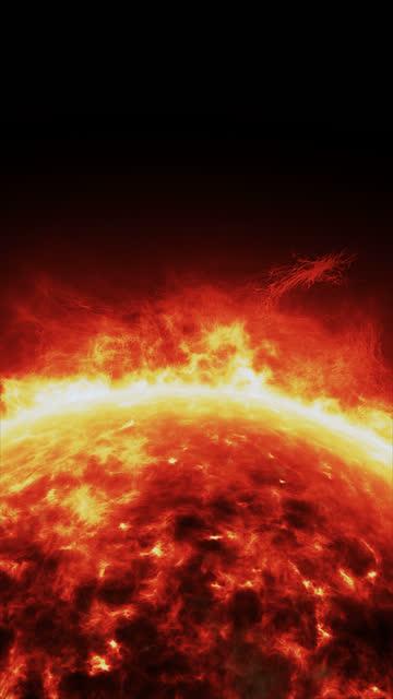sun surface/solar atmosphere vertical loop - erupting stock videos & royalty-free footage