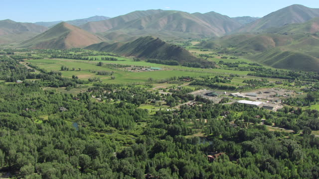 ws aerial sun valley  / idaho, united states - idaho stock videos & royalty-free footage
