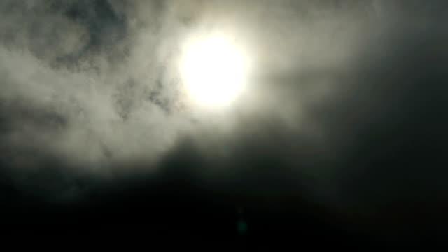 sun vanishes behind clouds - representing stock videos & royalty-free footage