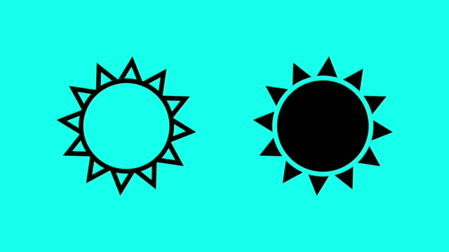sun - vector animate - vector stock videos & royalty-free footage