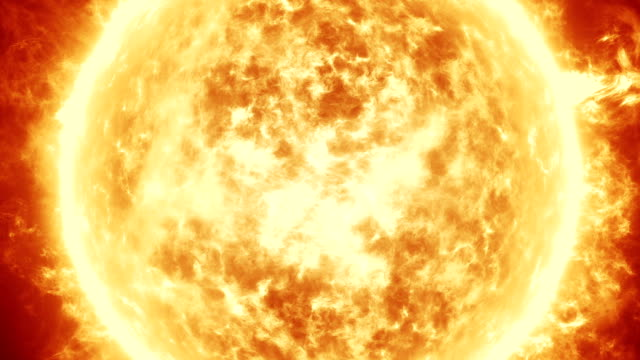 Sun with Solar Flares animation