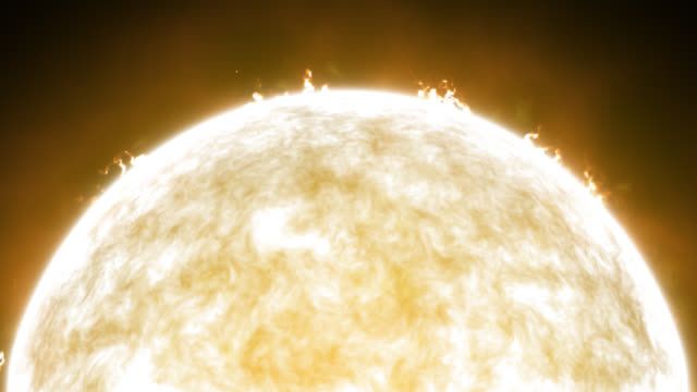 sun with solar flares - solar flare stock videos & royalty-free footage