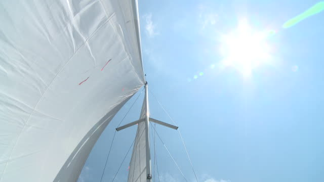 HD: Sunbathing On A Sailboat