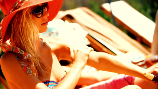 sunbathing. - sun hat stock videos & royalty-free footage