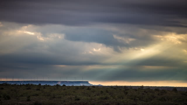 sunbeams crossing west texas plain - time lapse - texas stock videos & royalty-free footage