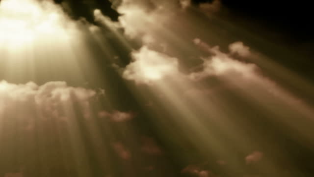 sunbeams shoot through time lapse clouds - heaven stock videos & royalty-free footage