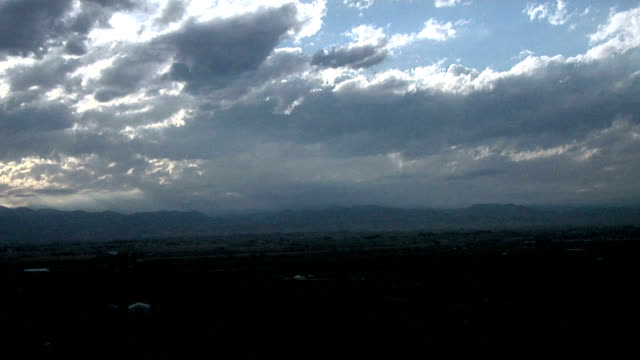 sunbeams through cloud, timelapse - stratocumulus stock videos and b-roll footage