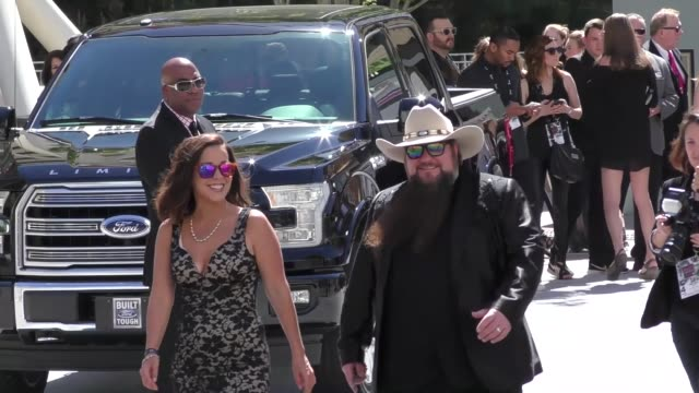 sundance head arriving to the 52nd academy of country music awards in celebrity sightings in las vegas - academy of country music awards stock videos & royalty-free footage