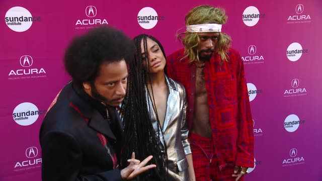 "chyron sundance institute at sundown – vanguard award presentation and ""sorry to bother you"" special screening in los angeles ca - film screening stock videos & royalty-free footage"