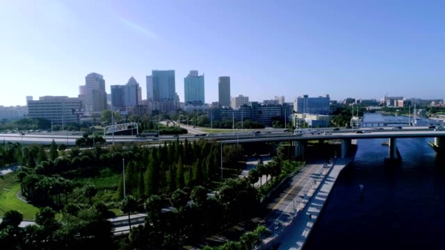 sunday morning traffic in tampa - tampa stock videos & royalty-free footage