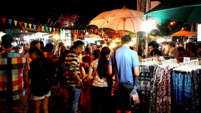 sunday night market walking street - street market stock videos & royalty-free footage