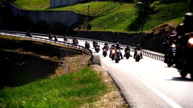 sunday ride - motorcycle biker stock videos & royalty-free footage