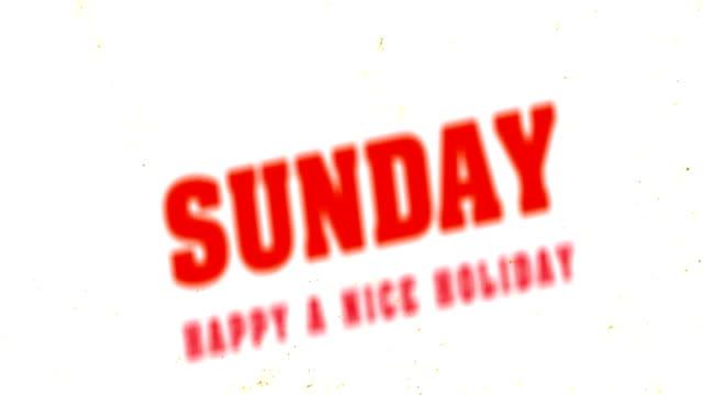 Sunday Text Animation