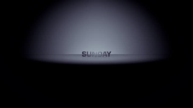 sunday week day horizon zoom - weekend activities stock videos & royalty-free footage