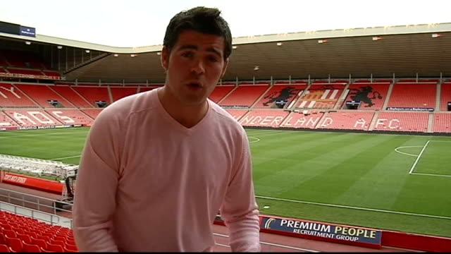 Sunderland v Ajax Amsterdam Reporter PTC SOT View of stadium
